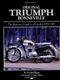 img - for Original Triumph Bonneville (Bay View Books) book / textbook / text book