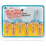 NPW Drinking Buddies Drink Markers, 6 Pack, Assorted Colors