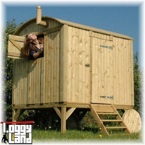 LoggyLand 9039 - Kinderspielhaus Bauwagen