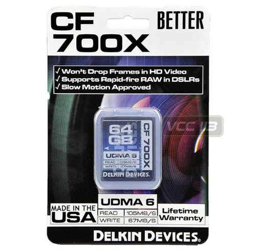 Delkin 64GB Rated 700X Compact Flash Memory Card Black Friday & Cyber Monday 2014