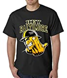 BeWild Brand® - Hey Baltimore - Pittsburgh guy with Middle Finger Mens T-shirt