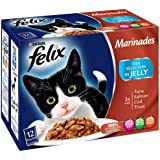 Felix Marinades Fish Selection in Jelly Wet Cat Food Pouch 12 x 100 g (Pack of 4)