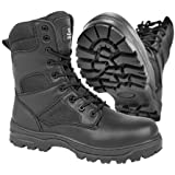 Military style safety toe boots, combat side zip industrial