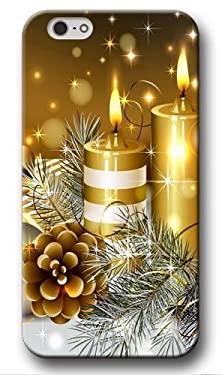 buy Christmas Iphone 6 Plus Case, Christma Candles Designed Case For Iphone 6S Plus, Coolest Hard Iphone 6 Plus Protective Case
