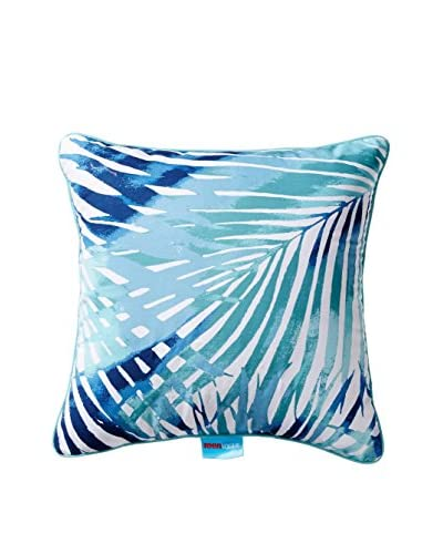 Teen Vogue Electric Beach Square Pillow, Blue