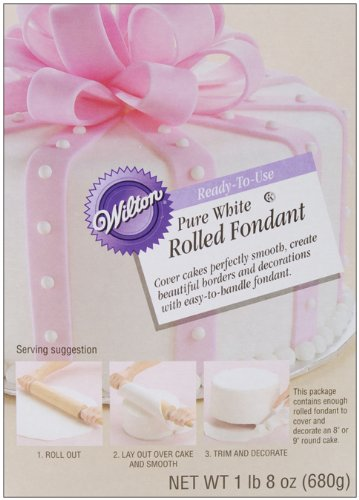 Wilton Pure White Rolled Fondant, 1-Pound 5-Ounce at Amazon.com