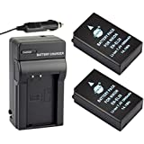 DSTE® 2x EN-EL20 Replacement Li-ion Battery + DC125 Travel and Car Charger Adapter for Nikon Coolpix A Nikon 1 J1 J2 J3 AW1 S1 Digital Cameras as ENEL20