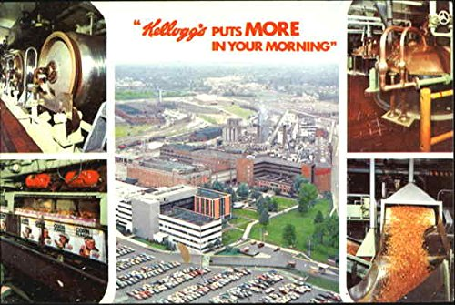 Kellogg's Battle Creek, Michigan vintage postcard