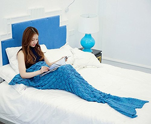 Mermaid Tail Blanket , Jinli Sofa Quilt Living room blanket Handmade Ultra Soft & Super Cool Portable & Convenient, Bed linens, Camping , Business Trip and Travelling Perfect Gift Choice (Cool Bed Accessories compare prices)