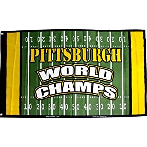 Pittsburgh Flag World Champs Field 3 X 5 from SteelerMania