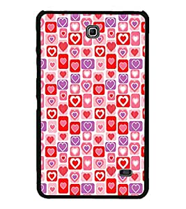 Hearts Pattern 2D Hard Polycarbonate Designer Back Case Cover for Samsung Galaxy Tab 4 :: Samsung Galaxy Tab 4 T231