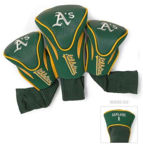 MLB Oakland Athletics Contour Head Cover (Pack of 3), Yellow