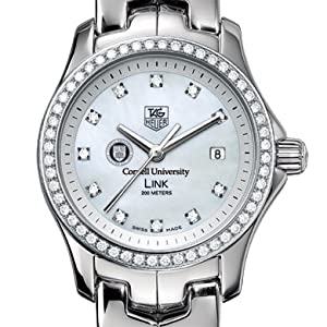 Cornell University TAG Heuer Watch - Women's Link Watch with Diamond Bezel