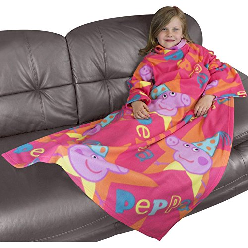 Girl's Pink Peppa Pig Super Soft Sleeved Fleece Blanket