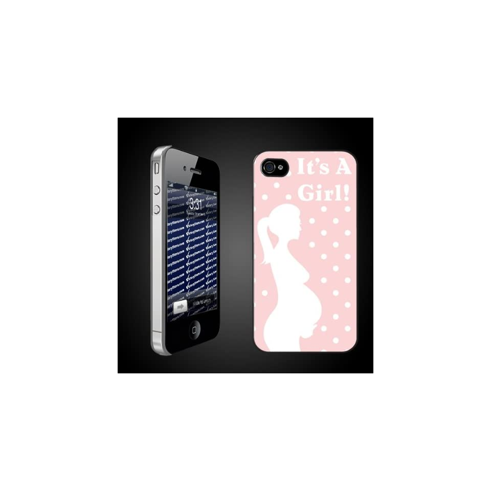 New Baby iPhone Design Its a Girl Mama Silouette   CLEAR iPhone Hard Case   Protective iPhone 4/iPhone 4S Case