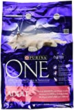 Purina ONE Adult Salmon and Whole Grains Dry Cat Food 3 kg (Pack of 4)