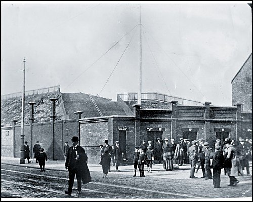 Photographic Print of c1912 Spion Kop/flagpole corner from Liverpool FC Pictures