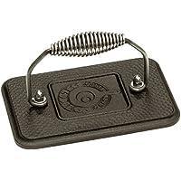 Lodge Cast Iron 6.75 In. x 4.5 In. Grill Press (Black)