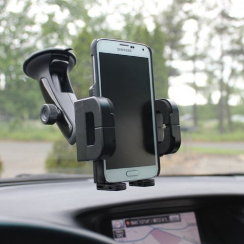 SELNA Multi-angle Rotating Car Windshield Mount Air Vent Phone Holder for iPhone 5S 5C 5 4S 6, iPod Touch, Samsung Galaxy S5, S4, S3, S2, Mini / Sport / Active - Galaxy Note 3 2 1 - LG G2, G3, G Vista, G Flex, Optimus L90 L70 - LG Google Nexus 5, 4 - HTC ONE M8 / ONE Remix / DROID DNA - Motorola Droid / RAZR MAXX / HD / Ultra / Mini / Moto G, X - Nokia Lumia - Sony Xperia, All Smartphones (Lg G2 Windshield Mount compare prices)