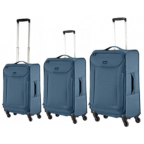 Ghepard set 3 trolley, blue-navy, Plume, linea light valigie da viaggio