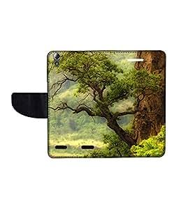 KolorEdge Printed Flip Cover For Lenovo A6000 -Multicolor (50KeMLogo10819LenovoA6000)