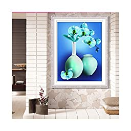 Flower Vase 5D Cross Stitch Phalaenopsis Diamond Painting Square Diamond Full-jewelled Diamond Paste Living Room Oil Painting