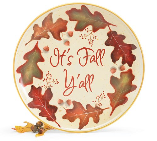 It's Fall Y'all Plate