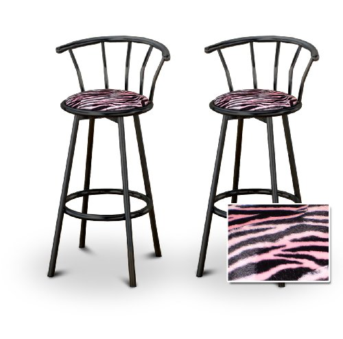 2 Animal Pink Zebra Print Black Swivel Barstools Novetaxy : 51gXSjD9zvL from sites.google.com size 500 x 494 jpeg 36kB