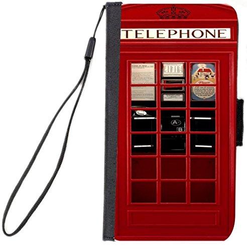 Rikki Knight British Phone Booth Flip Case For iPhone 6 Plus/6s Plus - Non-Retail Packaging - Black (Iphone 6 Plus Case British compare prices)