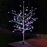 Anywhere LED with Leaves Tree Flower Color: Silver