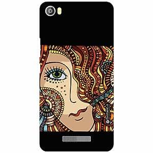 Lava Iris X8 Back Cover - Silicon Tribal Print Designer Cases