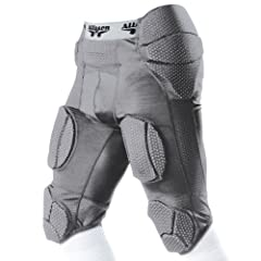 Click here to buy Alleson Adult Integrated Football System Girdles SI - SILVER AL by Alleson Athletic.