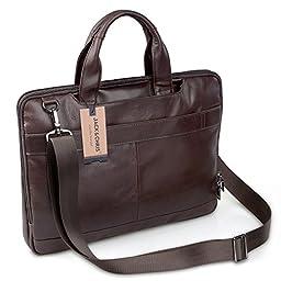 Jack&Chris®New Men\'s Briefcase Laptop Bag Messenger Handbag Leather Bag,NM7233