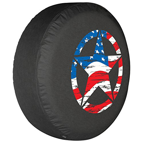 32 Quot Distressed Star Spare Tire Cover American Flag