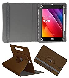 Acm Designer Rotating Case For Asus Zenpad S Stand Cover Brown