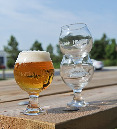 Dogfish Head Craft Brewed Ales - Stackable Tasting Glass (Dogfish Head 90 Minute Ipa compare prices)
