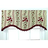 Metro Shop Anne Red Cornince Valance