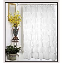Carmen Crushed Sheer Voile Fabric Shower Curtain 70Wx72L
