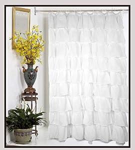 Amazon Carmen Crushed Sheer Voile Fabric Shower