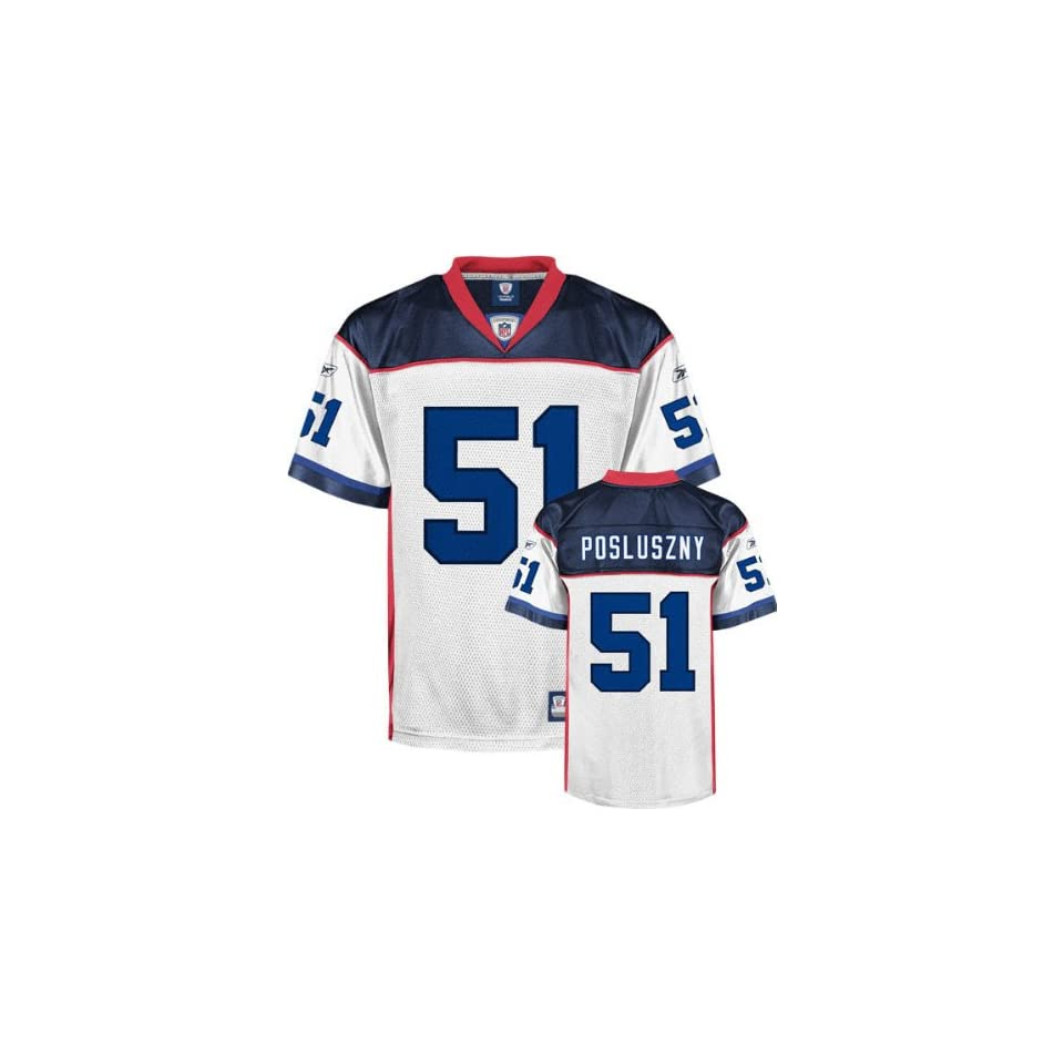 Paul Posluszny Youth Jersey Reebok White Replica  51 Buffalo Bills Jersey 27e58c511
