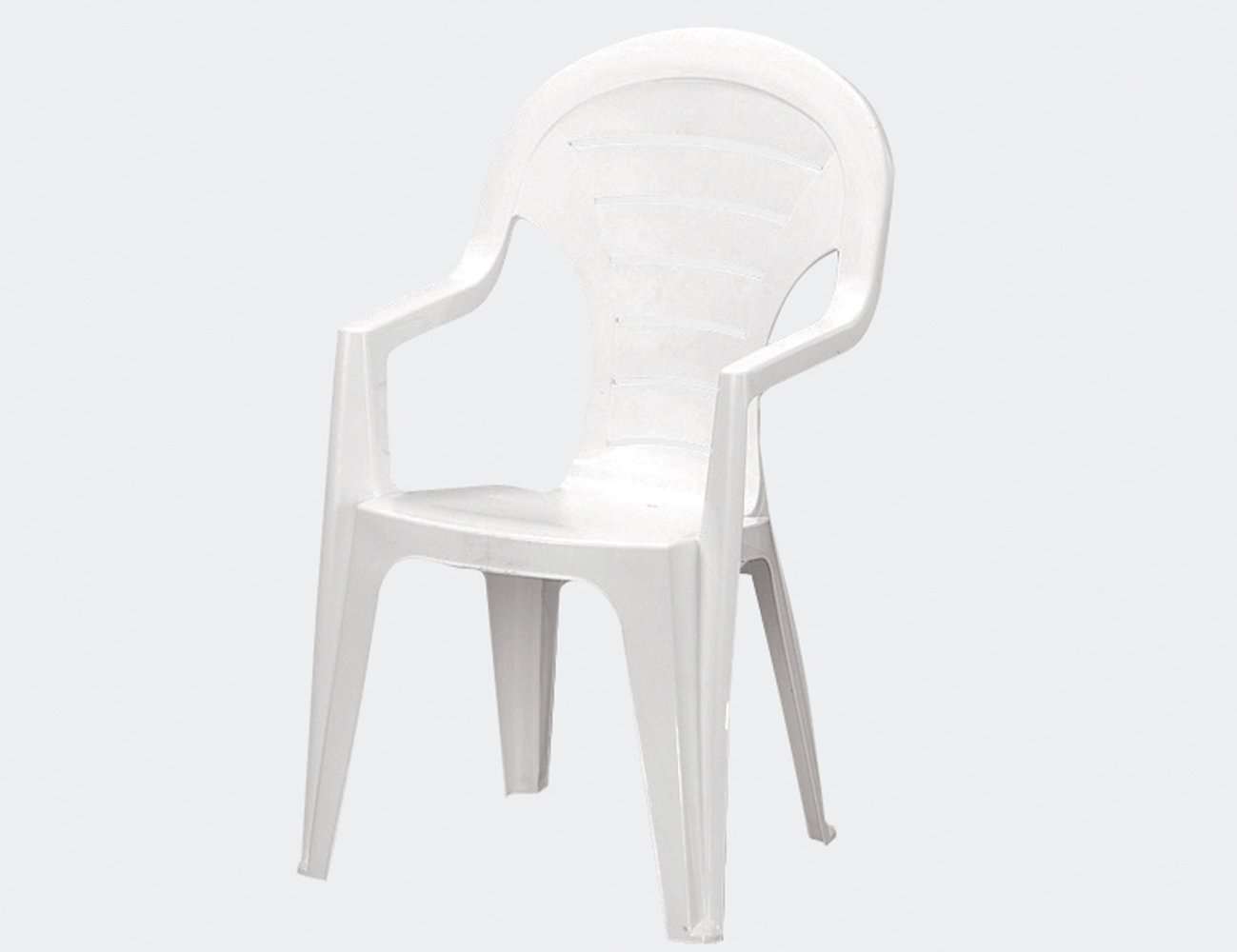 Jardin 142668 Stapelsessel Bonaire, Vollkunststoff 55.5 x 57 x 92 cm, weiß jetzt kaufen