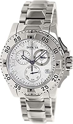 Invicta Men's Excursion 16101 Silver Stainless-Steel Swiss Quartz Watch with Silver Dial