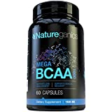 MEGA BCAA 1600 Amino Acids - Building Lean Muscle Mass, Muscle Recovery, and Aids in Weight Loss, Contains L-leucine, L-isoleucine, and L-valine. Works Excellant with Natureganics L-carnitine, L-glutamine and L-arginine. Manufactured in a USA Based GMP Certified Facility!