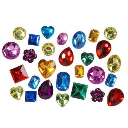 1 Lb. Acrylic Gemstones Asst. Sizes & Colors (3 pack)