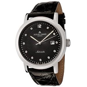 Jacques Lemans Men's GU163A Geneve Collection Grande Classique Automatic Diamond Accented Watch