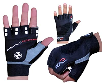 Evo Fitness Cycling Glove,Gym Weightlifting Gloves GEL exercise Wheelchair Glove from EVO Fitness