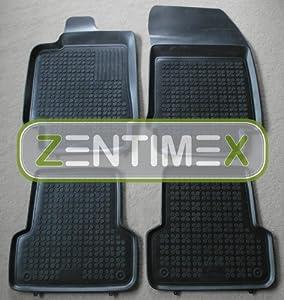 ZentimeX Z911824 Schalenmatten fahrzeugspezifisch mit Anti-Rutsch-Noppen (Durchmesser circa 18mm) schwarz