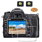 D7000 Screen Protector Appliable for Nikon D7000 D90 D700 D300 Digital Camera & Hot Shoe Cover,ULBTER 0.3mm 9H Hardness Tempered Glass Flim Anti-Scrach Anti-Fingerprint Anti-Bubble [3 Pack] (Color: D7000 D90 D700 D300)
