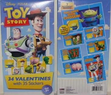 Disney Pixar Toy Story 34 Valentines with 35 Stickers