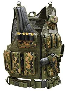UTG Airsoft Deluxe Tactical Vest Digital (Woodland Digital Camo)
